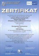 Zertifikat Deutsche Gesellschaft für Unfallchirurgie